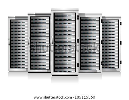 Five Serves - Information technology conceptual image - Raster Version