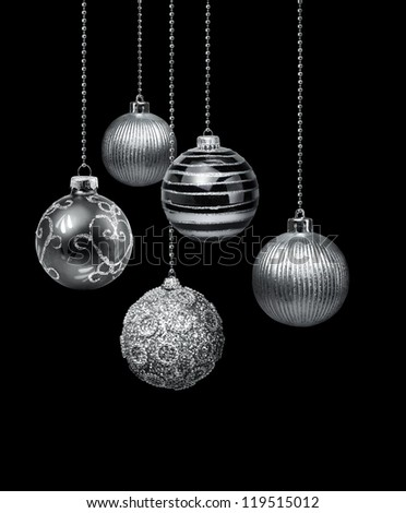 black and silver christmas ornaments - Black And Silver Christmas Decorations