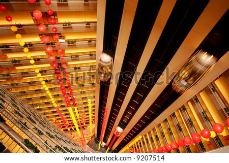 Five star hotel decorated for Chinese NY, Singapore