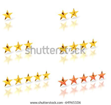 Five stars - stock photo