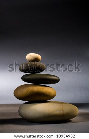 five stones in zen balance