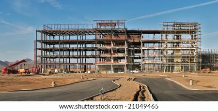 Steel Building Construction Five Story Building's Steel