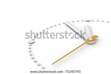 Five to Twelve. Clock at five to twelve - stock photo