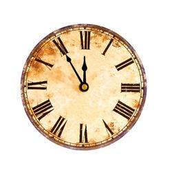 five to twelve, time on vintage clock