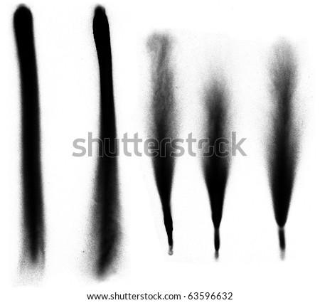 Five vertical spray paint borders