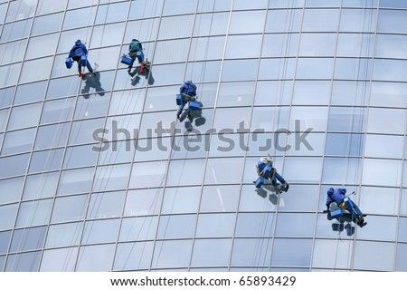 Five window cleaners