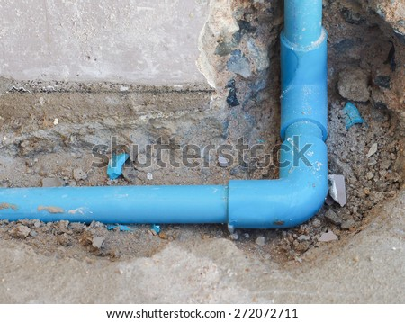 Fixing leaked water pipe on the wall