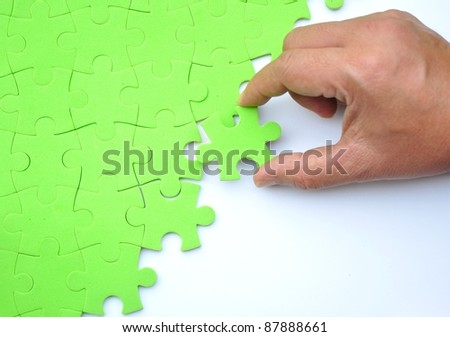 Fixing the  jigsaw puzzle