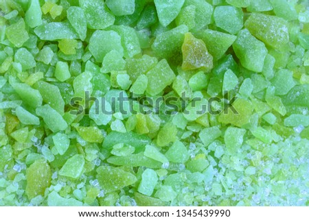 Fizzy candy granules,Texture