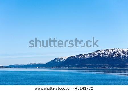 Fjord in Tromso Norway