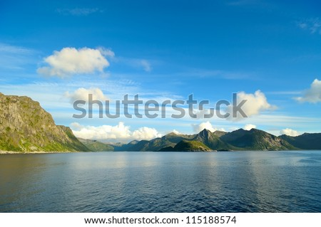 Fjord shore in Norway