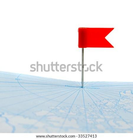 Flag a pin