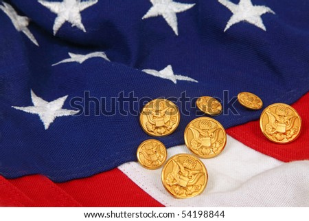 Flag and brass