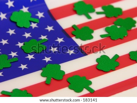 Flag and clovers