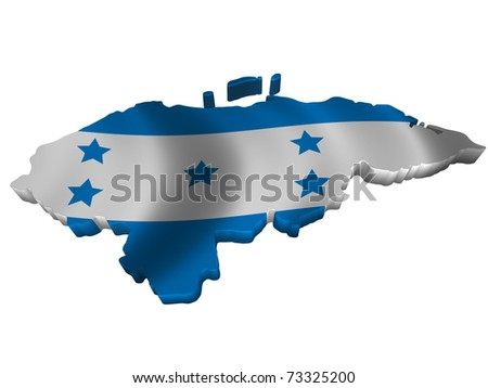 Flag and map of Honduras