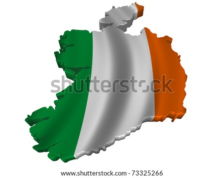 Flag and map of Ireland