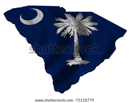Flag and map of South Carolina