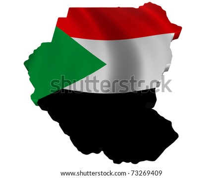maps of sudan. Flag and map of Sudan