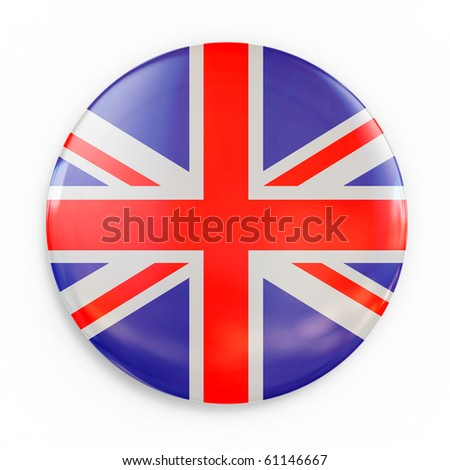 flag badge - Great Britain - stock photo