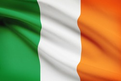 Flag blowing in the wind series - Ireland