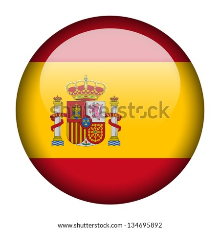 Flag button illustration - Spain