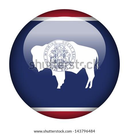 Flag button illustration - Wyoming