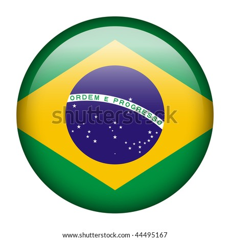 Flag button series of all sovereign countries - Brazil