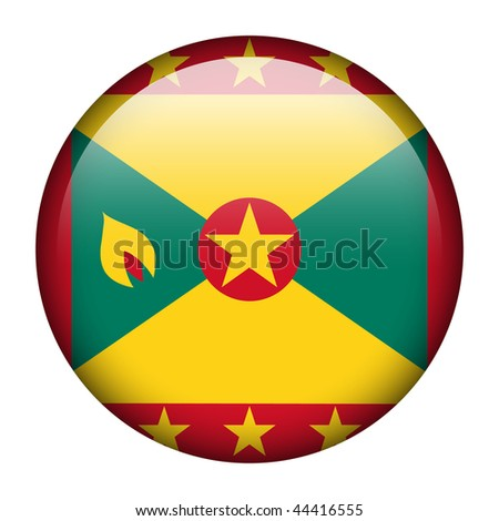 Flag button series of all sovereign countries - Grenada