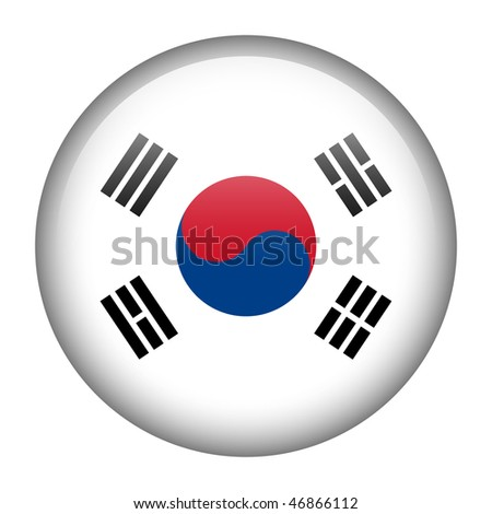 Flag button series of all sovereign countries - South Korea