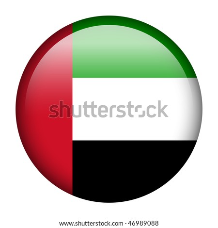 Flag button series of all sovereign countries - United Arab Emirates