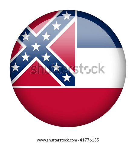 Flag button series of the states in USA - Mississippi