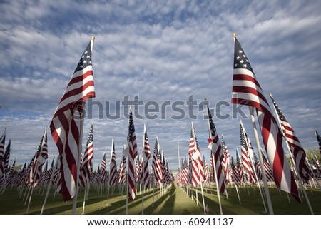 Flag ceremony commemorating September 11 and other national holidays.