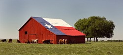 Flag Decorated Barn