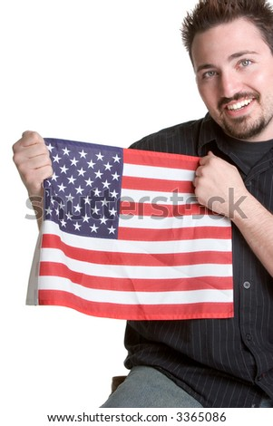 Flag Man - stock photo