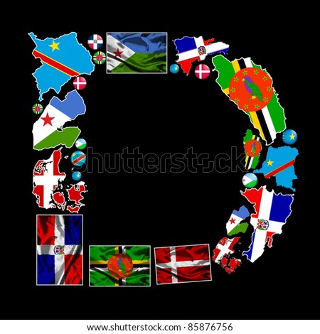 ... countries in the world starting with the letter D make up the letter D