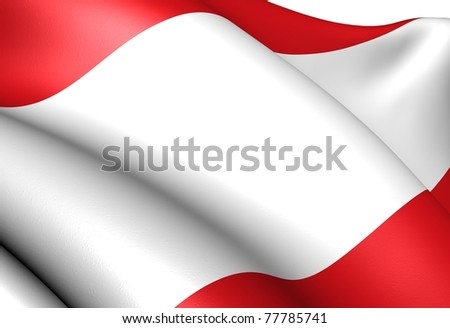 Flag of Antwerp. Close up. - stock photo