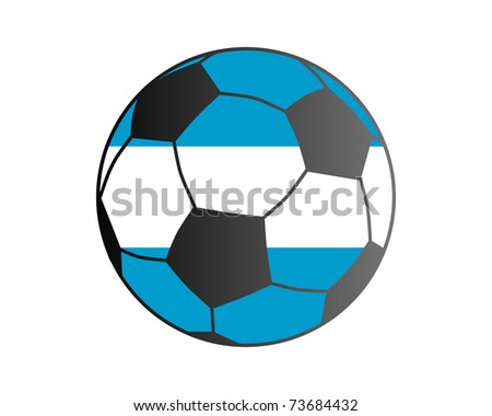 Flag of Argentina and soccer ball