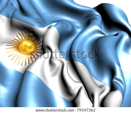 Flag of Argentina. Close up.