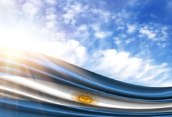 flag of Argentina in the sun
