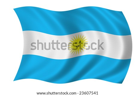 Flag of Argentina isolated on a white background