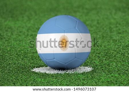 Flag of Argentina on Football Argentina Flag on soccer ball #1496073107