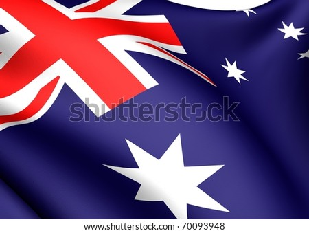 Flag of Australia. Close-up.