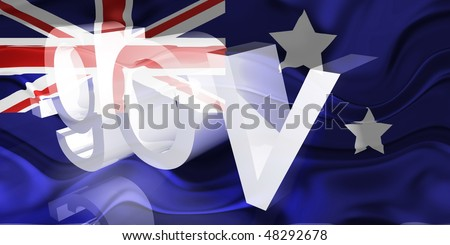 Flag of Australia, national country symbol illustration wavy gov government website
