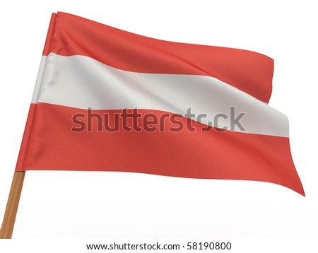 Flag of austria . 3d