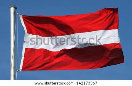 Flag of Austria on a sunny day