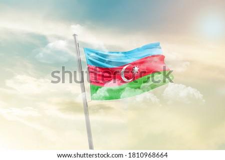 Flag of Azerbaijan - 3D render