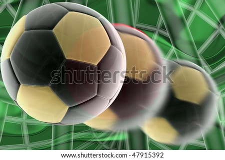 Flag of Bangladesh, national country symbol illustration wavy sports soccer football