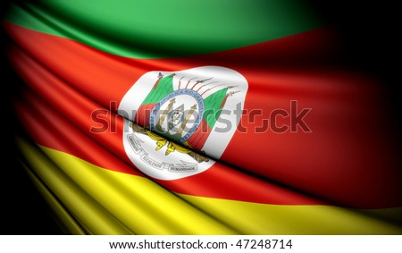Flag of Brazil (Rio Grande do Sul) - stock photo