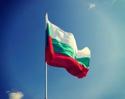 Flag of Bulgaria against the sky