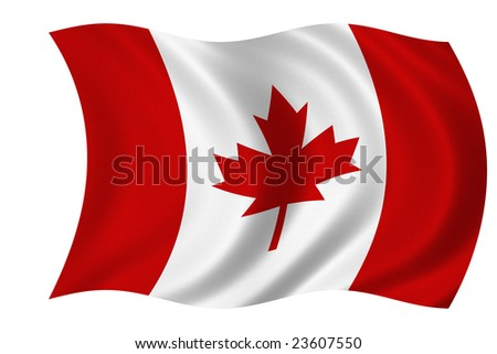 Flag of Canada isolated on a white background